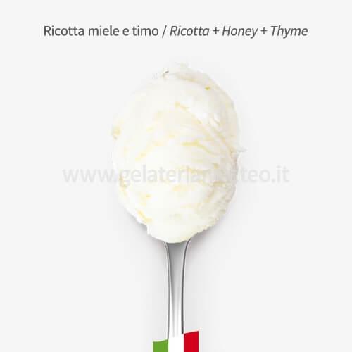 Gelato Gourmet Ricotta MIele e Timo  0,5 Kg